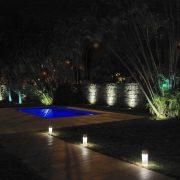 iluminação cênica de jardins