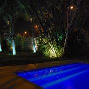 Arquitetura detalhe do revestimento da piscina